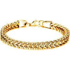 18K Yellow Gold Plating Bracelet Bangle Chain Fashion For Women Men Jewellery