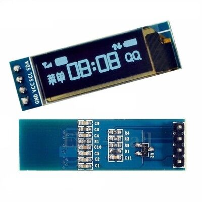 0.91 128x32 Iic I2c Blue Oled Display Diy Module Dc3.3v 5v For Pic Arduino