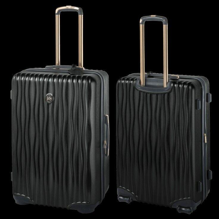 Joy Mangano Hardside 2 Piece Luggage Set (black onyx)