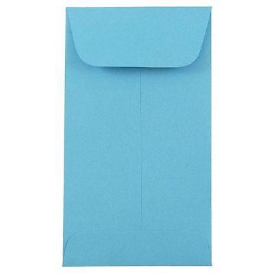 #3 COIN ENVELOPES 4.25x2.5 Sky/Light Blue Gummed Seal Acid-Free (4-1/4x