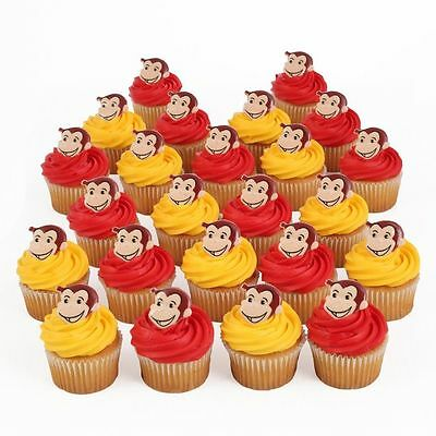 Curious George 24 Cupcake Rings Birthday Party Favors, Prizes Bag Fillers Decor - Curious George Birthday Party Decorations