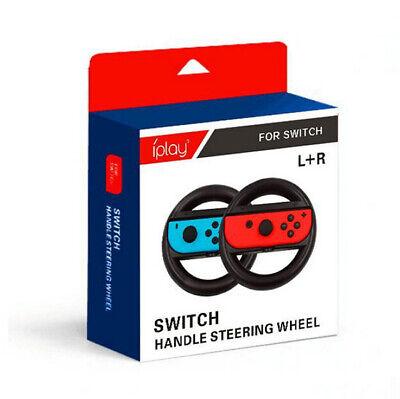 Nintendo Switch-Joy-Con Mario Kart 2-Pack Racing Steering Wheel Grips Games SS