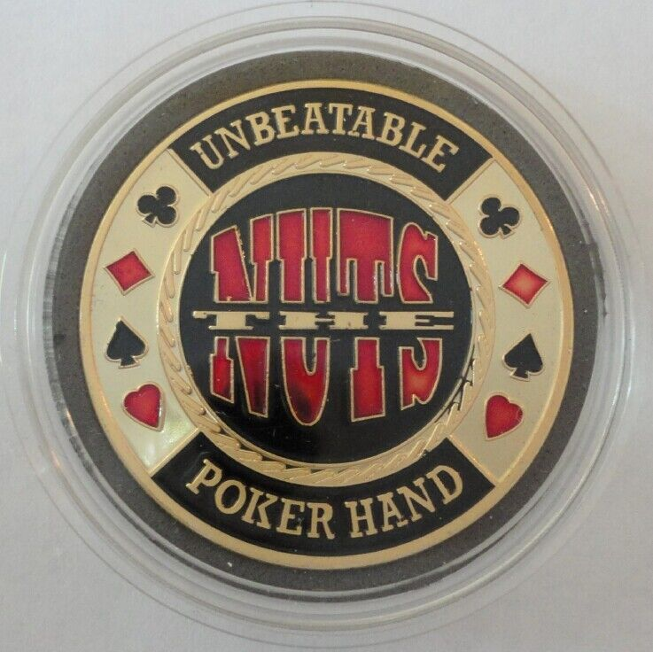UNBEATABLE THE NUTS Poker Card Guard Protector