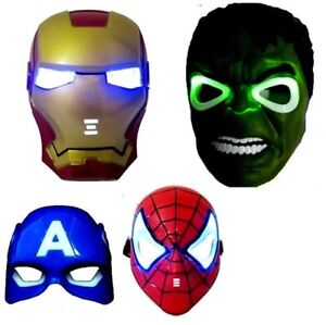 Superhero LED Masks Halloween Spiderman Hulk Ironman NEW - $15