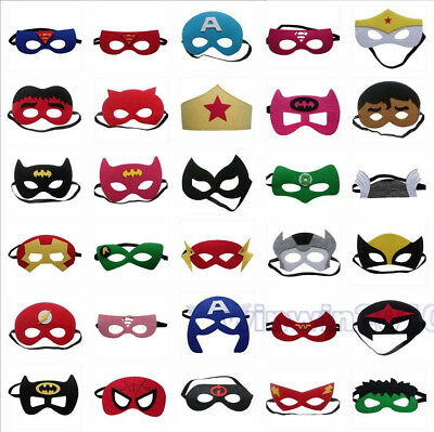 Girl Mask - Kid's Super Hero Avengers Eye Mask Spiderman Batman Cosplay Party Boy Girl Toy