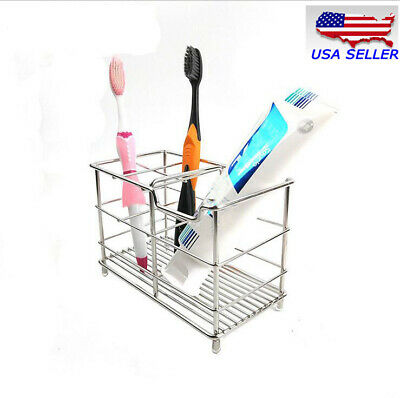 Small Stainless Steel Bathroom Toothbrush Toothpaste Holder Razor Stand Househol