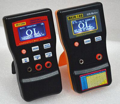 Mlc500 Autoranging Lc Meter Mesr100 In Circuit Esr Capacitor Meter Tester