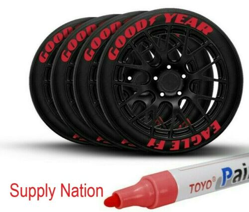Tire Permanent Marker Tire Lettering Paint Pen TOYO Red