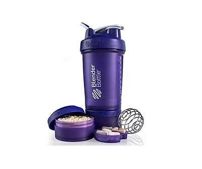 Blender Bottle ProStak 22 oz BlenderBottle Mixer Pro Stak Shaker Cup Well-built PURPLE