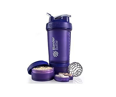 Blender Bottle ProStak 22 oz BlenderBottle Mixer Pro Stak Shaker Cup Wide PURPLE