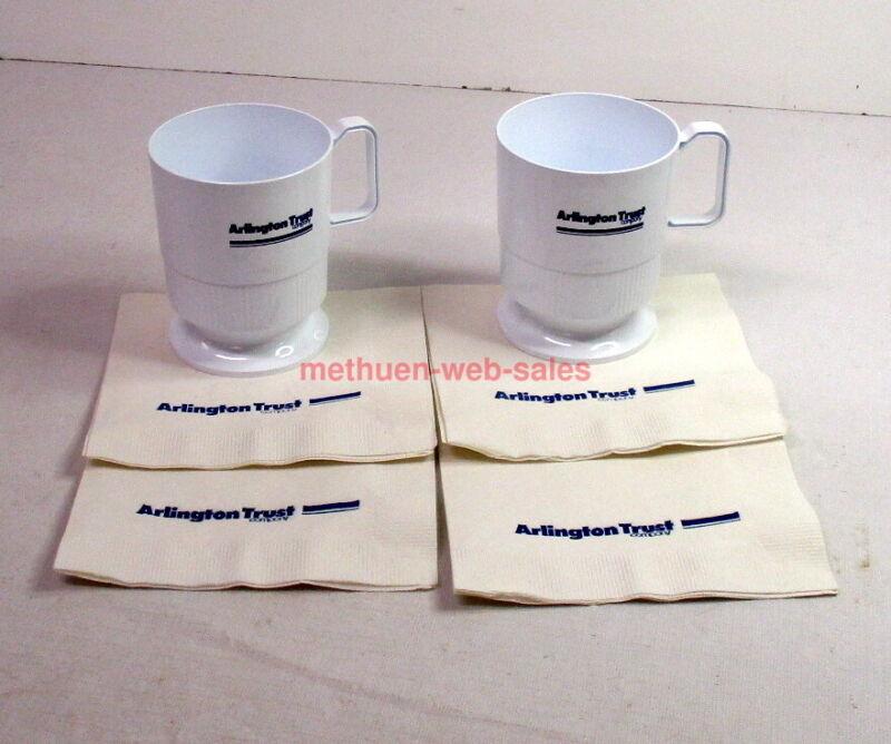 Arlington Trust Company~Bank~Cups&Napkins~Lawrence,Haverhill,Methuen,Andover~ MA