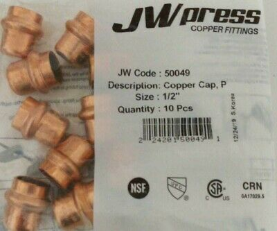 Lot Of 20 12 34 Propress Copper Caps Lead Free Free Shipping