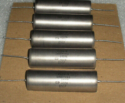 .1uf  200v K40Y-9 New Old Stock Russian Paper In Oil Tone Capacitor