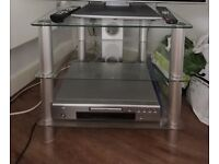 3 Tier Glass Multimedia TV Stand