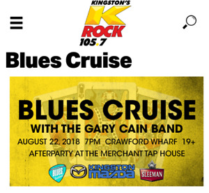 Two ticket for krock 105.7 party cruise blues fest August 22nd
