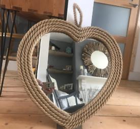 Heart shaped wall mirror