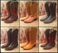 Selection Cowboy Boots Sizes 7.5-8 *Moving!*