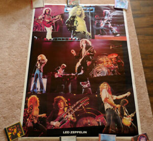 Led Zeppelin poster Original Vintage poster HUGE SIZE MINT UNUSE