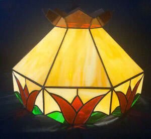 Stained Glass Hanging Lamp Shade.