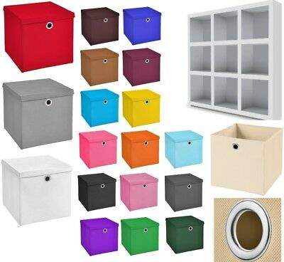 3er Set 33x33x33 Aufbewahrungsbox Spielkiste Regalkorb Faltkiste Korb Stoff Box
