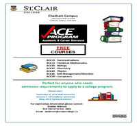 FREE COURSES - ACE PROGRAM - ST. CLAIR COLLEGE