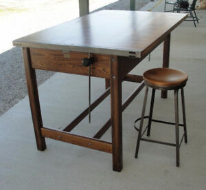 Antique Dietzgen architect's desk - drafting drawing table