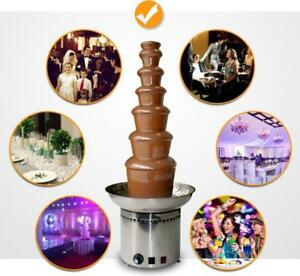 4/5/6/7 tiers Double Color Chocolate Fondue Fountain Stainless Steel Party Home