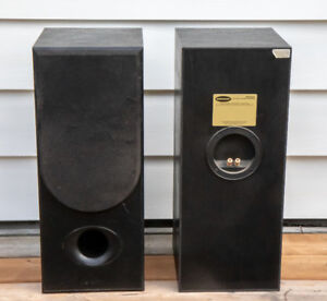 "Desktop Speakers by Dahlquist, 24"" high"