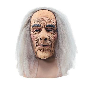 Alter Mann Grau Haar Perücke Maske Großvater Opa Halloween Kostüm