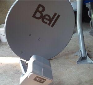 Brand new bell satellite dish with dp plus quad