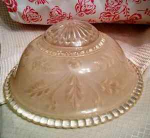 Vintage Pressed Glass Shade Reclaimed Architectural Kitchener / Waterloo Kitchener Area image 3