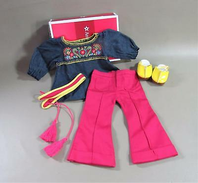 AMERICAN GIRL JULIE TUNIC OUTFIT - COMPLETE TUNIC PANTS CLOGS - NIB