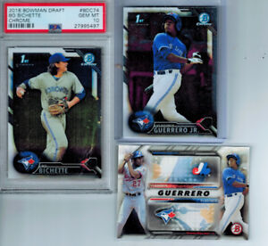 Chrome Rookie Cards of Blue Jays Vlad Guerrero Jr & Bo Bichette