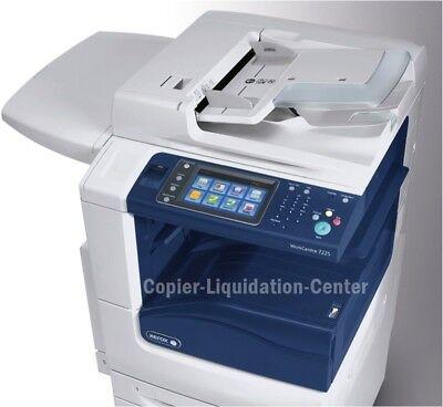 Xerox 7225 Color Copier Printer Scanner 25ppm - Low Meter