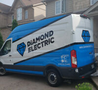 DIAMOND ELECTRIC-FULLY LICENSED AND INSURED MASTER ELECTRICIAN.