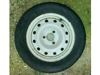 2x 165//65x13 tyres on ford steel rims