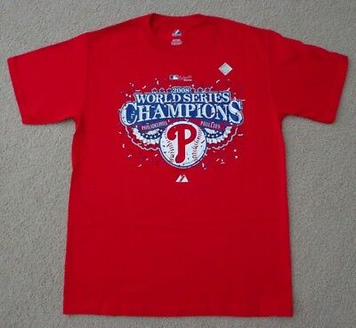 Authentic Collection 2008 Phillies World Series Champions T- Shirt, Size - -