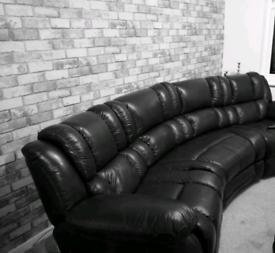 Italian leather curve lazy boy sofa