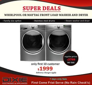 NO TAX SAMSUNG LG WHIRLPOOL WASHER DRYER SALE CHEAP MISSISSAUGA