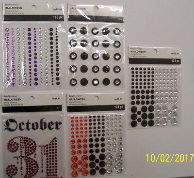 D Halloween (U CHOOSE  Assorted Recollections HALLOWEEN BLING gems 3D Stickers october)