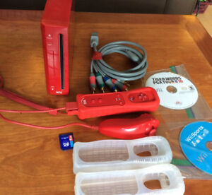 Special Red Edition Wii + Controller + SD Card + Extras | 100% W