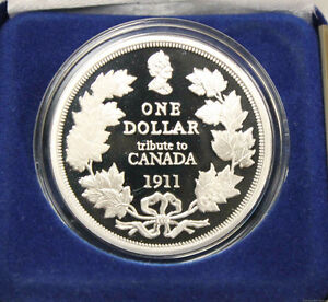 Cook islands 1 oz Proof Silver 1911 Tribute to Canada