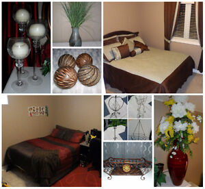 Home Staging Items - Bedding & Home Decor