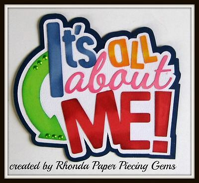 ALL ABOUT ME GIRL title paper piecing  Premade Scrapbook Pages DIE CUT by - All About Me Paper