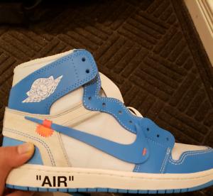 Off White Air Jordan Unc Size 10.5 Ds