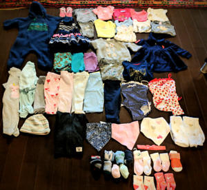 Baby girl clothing 58 items( 6-12 months)
