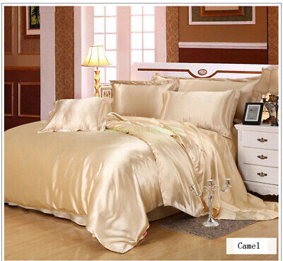Natural Mulberry Silk Bedding Deluxe Comfort  4 Piece Bed Sheet Set 220*240cm