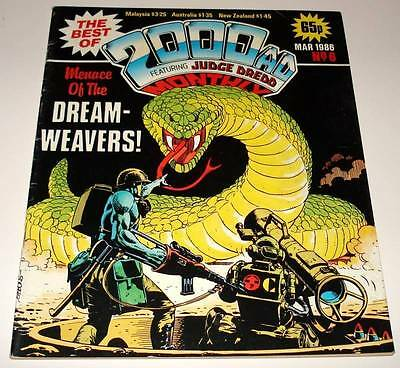 The Best of 2000ad Featuring JUDGE DREDD Monthly Comic Magazine # 6  Mar 1986 FN