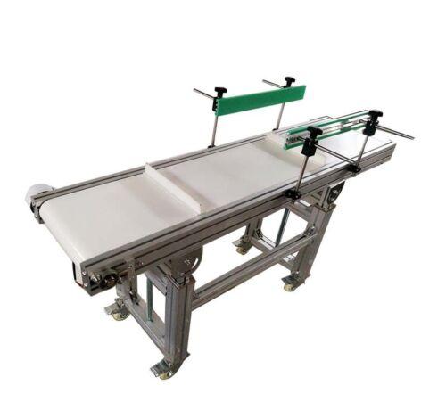 "110V 120W 27.5""-35.4"" Height Electric White PVC Belt Barrier Conveyor Machine"