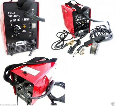 Mig 105 Flux Core Wire Mig Welding Machine 90amp No Gas Welder Wcooling Fans